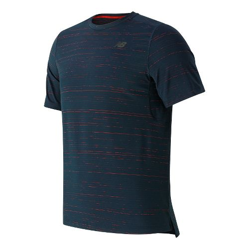 Mens New Balance Max Speed Short Sleeve Technical Tops - Galaxy L