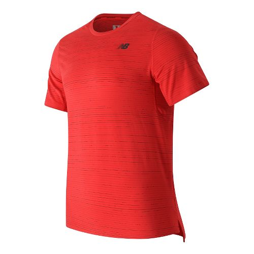 Mens New Balance Max Speed Short Sleeve Technical Tops - Atomic S