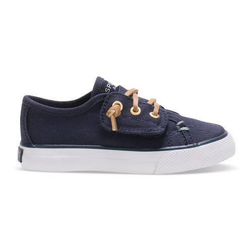 Sperry Seacoast Jr. Textile Casual Shoe - Navy Canvas 6C