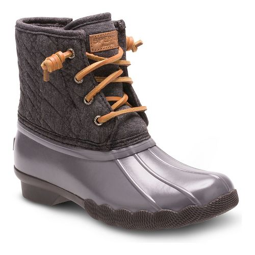 Kids Sperry Saltwater Boot Casual Shoe - Grey 3Y