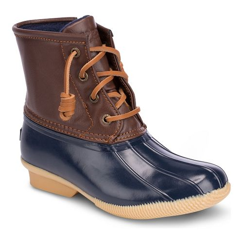Girls Sperry Saltwater Boot Casual Shoe - Navy 13C