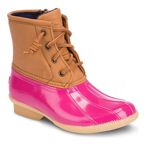 Kids Sperry Saltwater Boot Casual Shoe - Pink 4Y