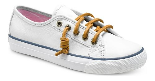 Kids Sperry Seacoast Leather Casual Shoe - White 13C