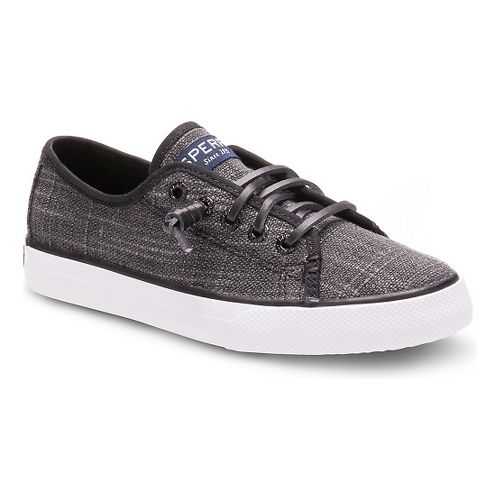 Sperry Girls Seacoast Textile Casual Shoe - Black 3Y
