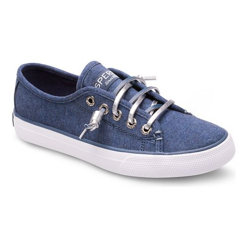 Kids Sperry Seacoast Textile Casual Shoe - Navy 6Y