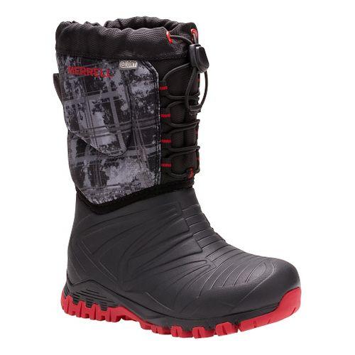Kids Merrell Snow Quest Lite Waterproof Casual Shoe - Black 11C