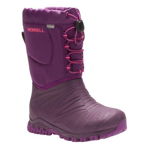 Kids Merrell Snow Quest Lite Waterproof Casual Shoe - Berry 11C