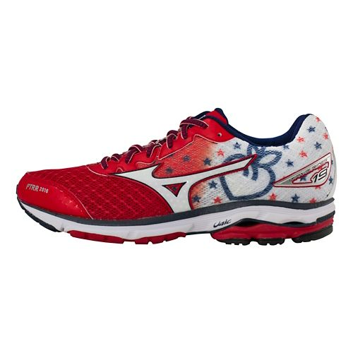 Mens Mizuno Wave Rider 19 Peachtree Running Shoe - Peachtree 10