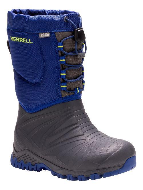 Kids Merrell Snow Quest Lite Waterproof Casual Shoe - Grey/Cobalt 7Y