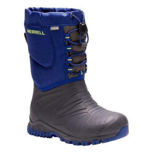Kids Merrell Snow Quest Lite Waterproof Casual Shoe - Grey/Cobalt 6Y
