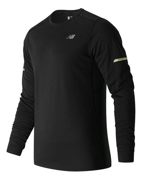 Mens New Balance NB Ice Long Sleeve Technical Tops - Black XL
