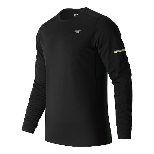 Mens New Balance NB Ice Long Sleeve Technical Tops - Black XL