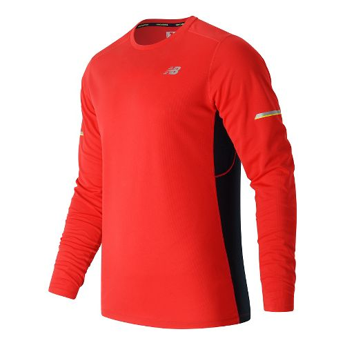 Mens New Balance NB Ice Long Sleeve Technical Tops - Atomic M