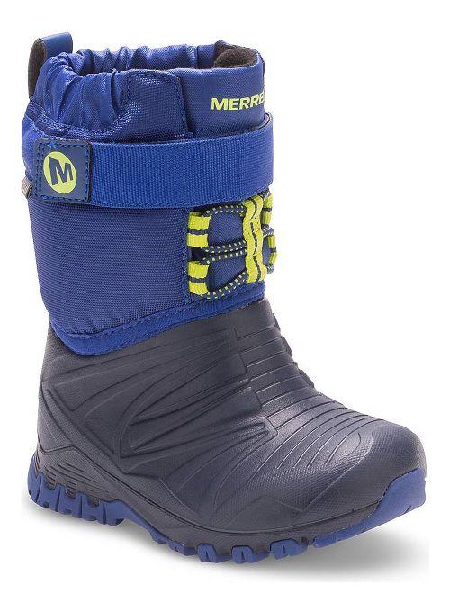 Kids Merrell Snow Quest Lite Waterproof Casual Shoe - Blue 9C