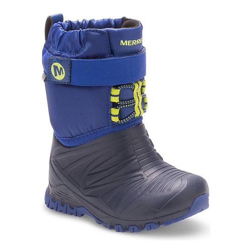 Kids Merrell Snow Quest Lite Waterproof Casual Shoe - Blue 5C