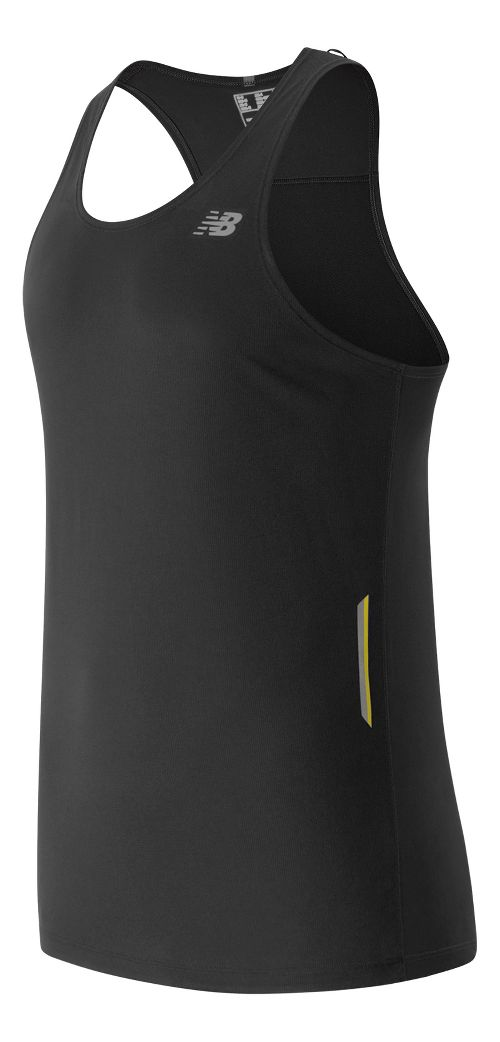 Mens New Balance NB Ice Singlet Sleeveless & Tank Technical Tops - Black XL