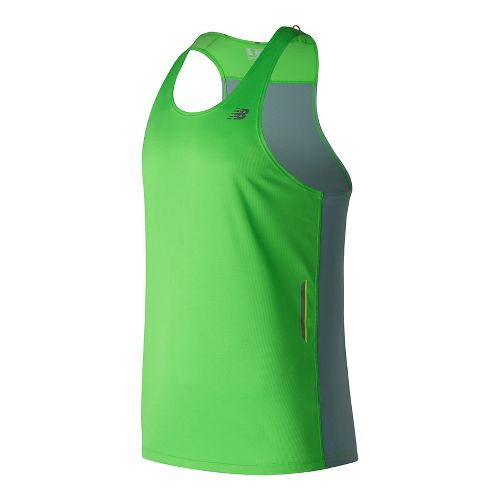 Mens New Balance NB Ice Singlet Sleeveless & Tank Technical Tops - Vivid Cactus S ...