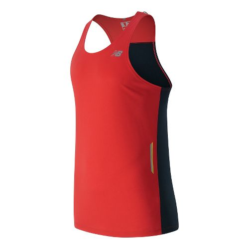 Mens New Balance NB Ice Singlet Sleeveless & Tank Technical Tops - Atomic L