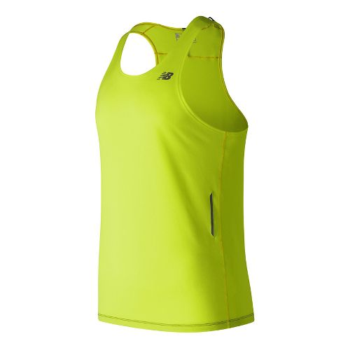 Mens New Balance NB Ice Singlet Sleeveless & Tank Technical Tops - Hi-Lite XL