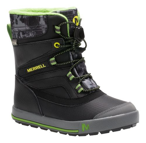 Kids Merrell Snow Bank 2.0 Waterproof Casual Shoe - Black/Green 5Y