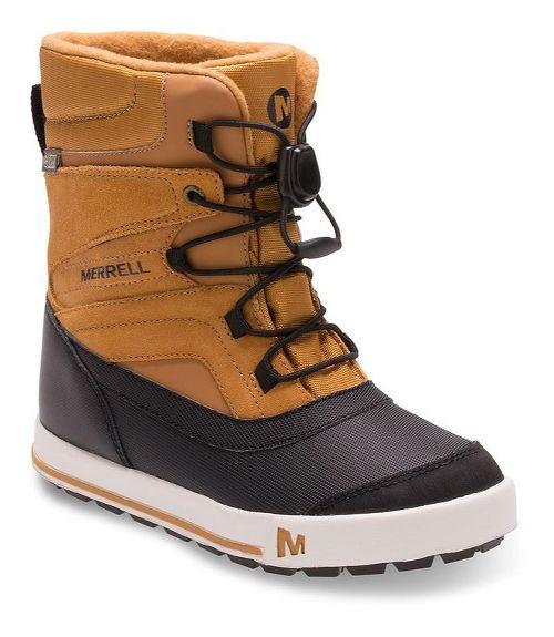 Kids Merrell Snow Bank 2.0 Waterproof Casual Shoe - Wheat 6Y