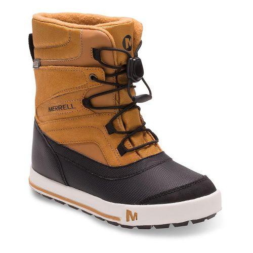 Kids Merrell Snow Bank 2.0 Waterproof Casual Shoe - Wheat 12C