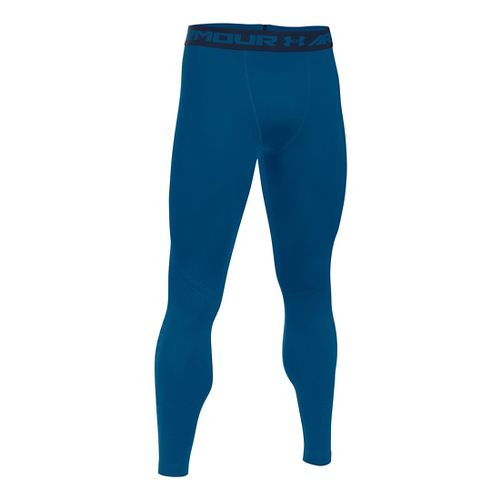 Mens Under Armour HeatGear Graphic Tights & Leggings Pants - Heron/Midnight Navy M