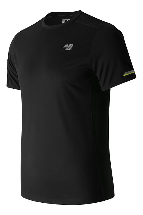 Mens New Balance NB Ice Short Sleeve Technical Tops - Black S