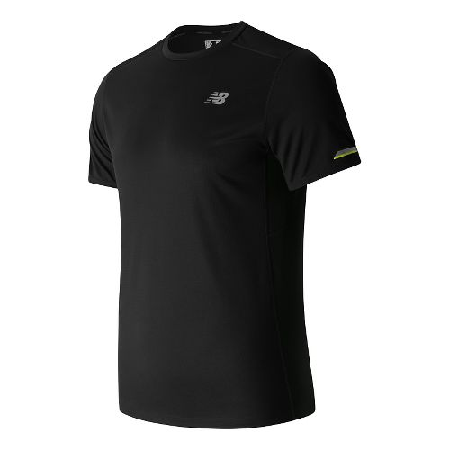Mens New Balance NB Ice Short Sleeve Technical Tops - Black L