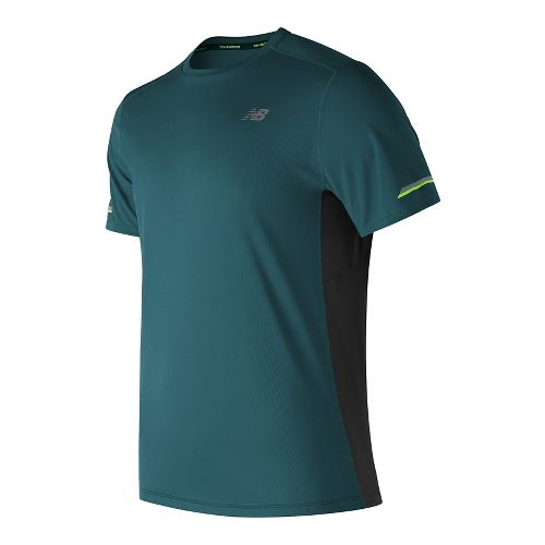 Mens New Balance NB Ice Short Sleeve Technical Tops - Supercell L