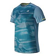 Mens New Balance NB Ice Short Sleeve Technical Tops