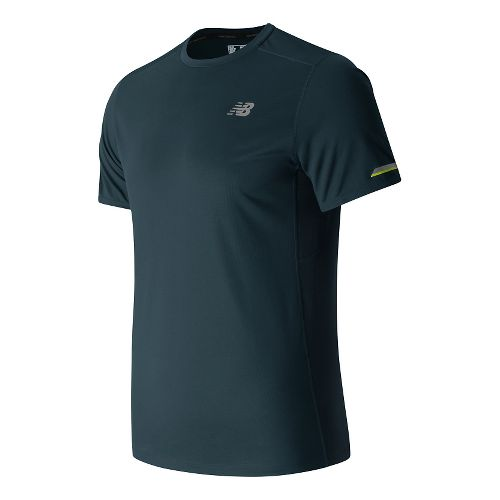 Mens New Balance NB Ice Short Sleeve Technical Tops - Galaxy XL