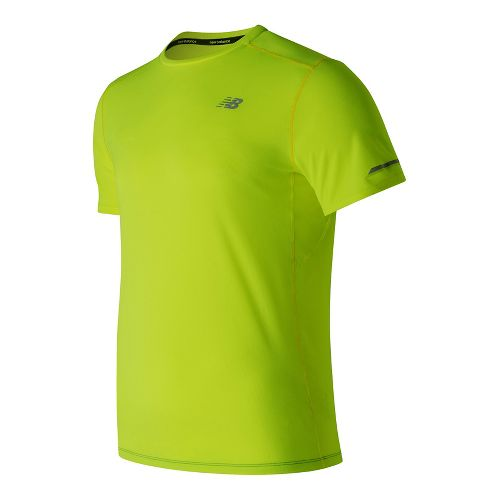Mens New Balance NB Ice Short Sleeve Technical Tops - Hi-Lite S