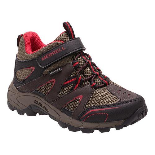 Kids Merrell Hilltop Mid Quick Close Waterproof Hiking Shoe - Grey/Multi 2.5Y
