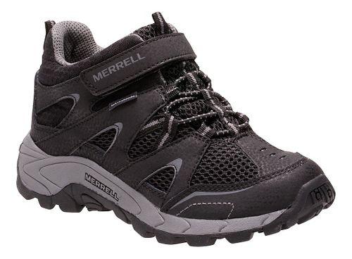 Kids Merrell Hilltop Mid Quick Close Waterproof Hiking Shoe - Black 4.5Y