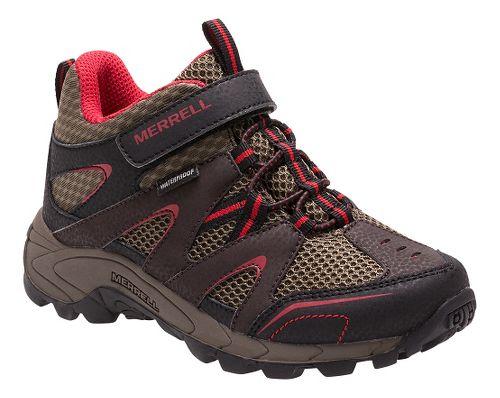 Kids Merrell Hilltop Mid Quick Close Waterproof Hiking Shoe - Brown 5.5Y