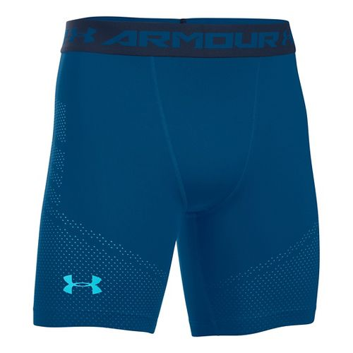 Mens Under Armour HeatGear Graphic Compression & Fitted Shorts - Heron L