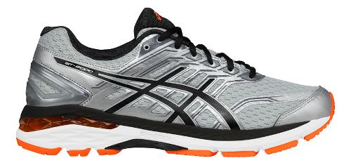 Mens ASICS GT-2000 5 Running Shoe - Silver/Orange 13