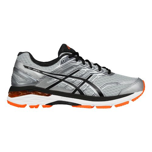 Mens ASICS GT-2000 5 Running Shoe - Silver/Orange 12.5