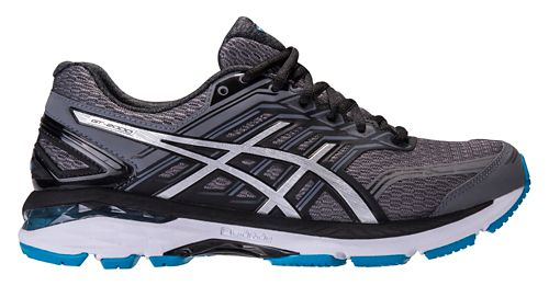 Mens ASICS GT-2000 5 Running Shoe - Carbon/Silver 15