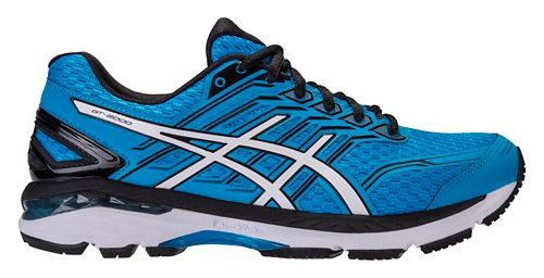 Mens ASICS GT-2000 5 Running Shoe - Blue/Black 9