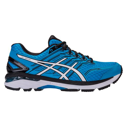 Mens ASICS GT-2000 5 Running Shoe - Blue/Black 9.5