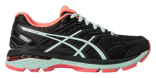 Womens ASICS GT-2000 5 Running Shoe - Black/Mint 10