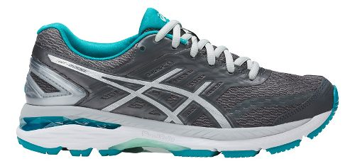 Womens ASICS GT-2000 5 Running Shoe - Grey/Aqua 6.5