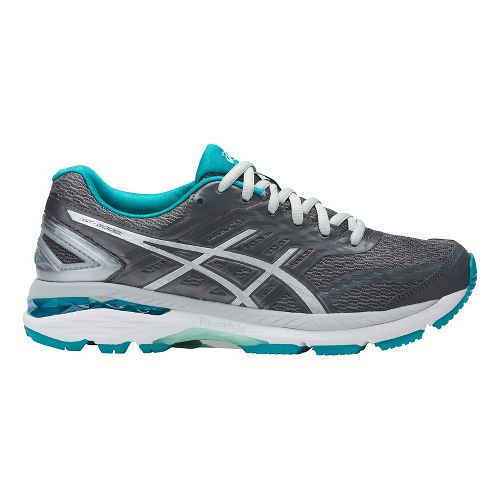 Womens ASICS GT-2000 5 Running Shoe - Grey/Aqua 9.5