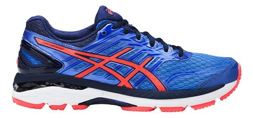Womens ASICS GT-2000 5 Running Shoe - Blue/Coral 7.5