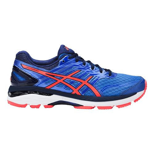 Womens ASICS GT-2000 5 Running Shoe - Blue/Coral 10