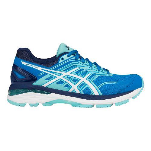 Womens ASICS GT-2000 5 Running Shoe - Blue/White 9.5