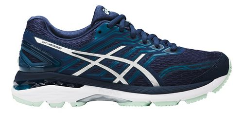 Womens ASICS GT-2000 5 Running Shoe - Blue/Silver 6