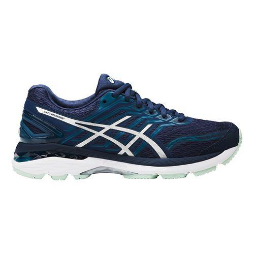 Womens ASICS GT-2000 5 Running Shoe - Blue/Silver 11